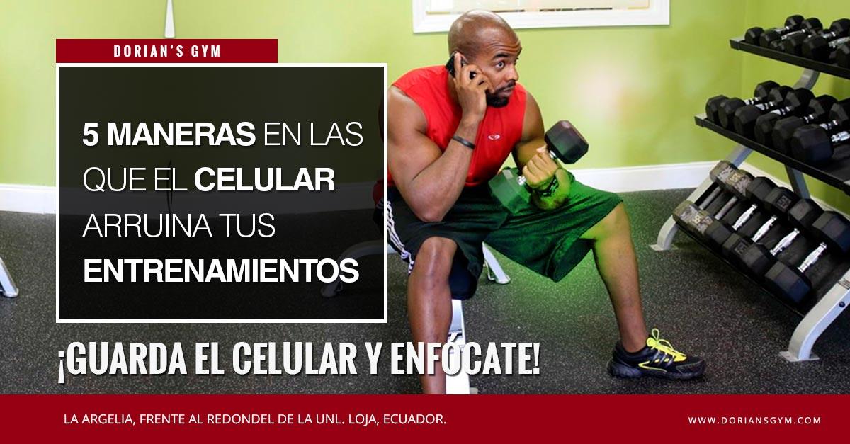 Si llevas tu celular al gym estás cometiendo un gran error