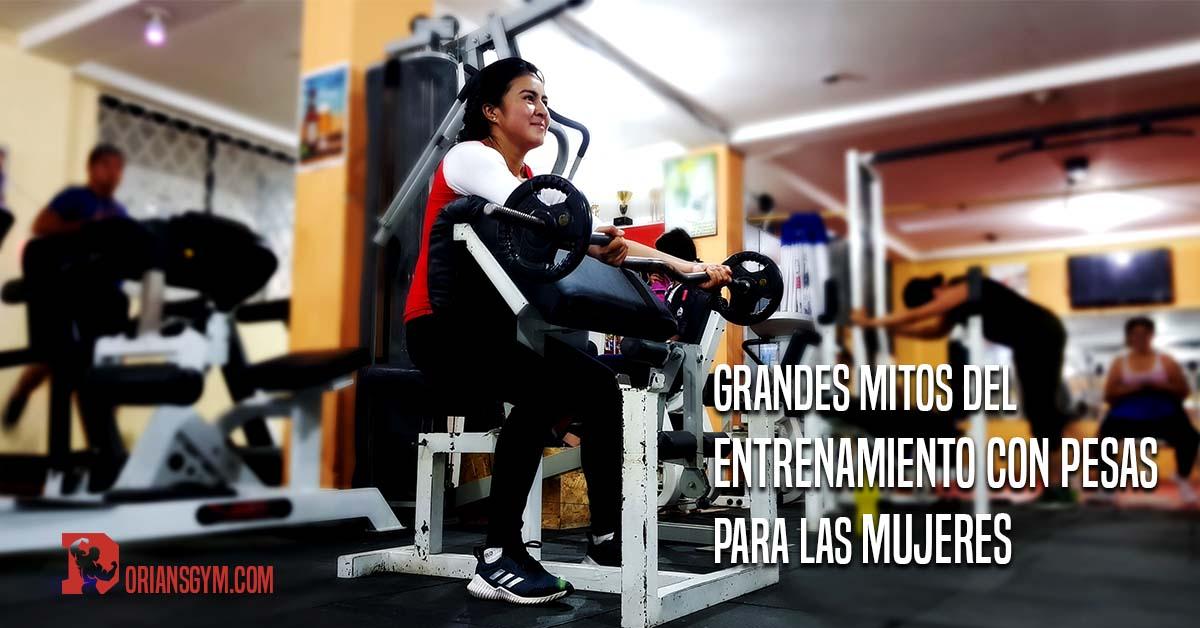 Grandes mitos del entrenamiento con pesas para las mujeres